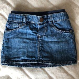 Toddler girls denim skirt